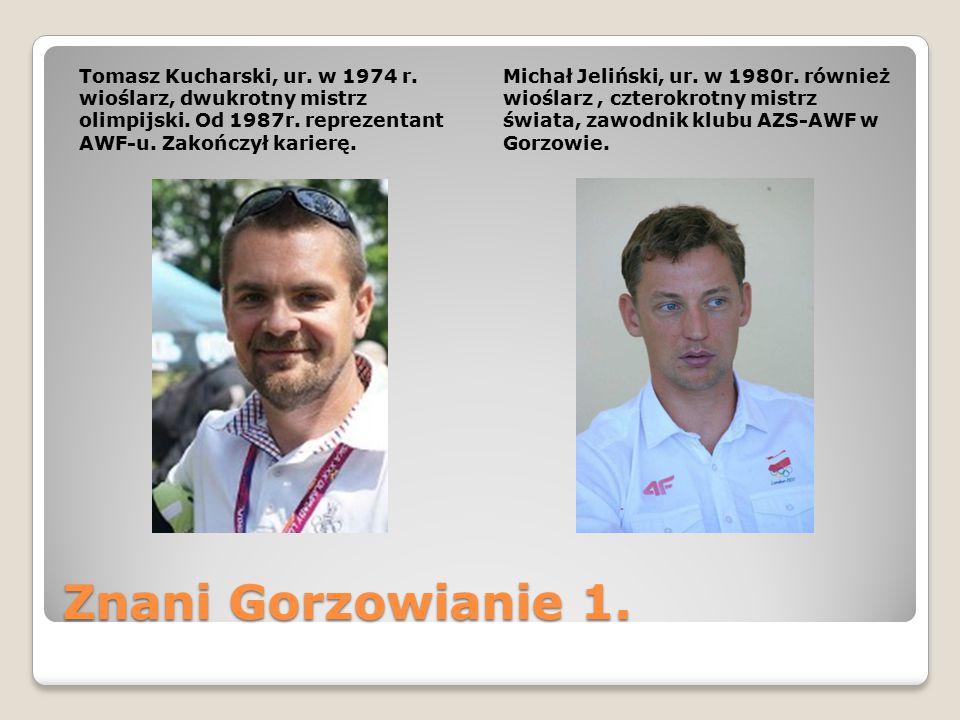 Tomasz Kucharski, ur. w 1974 r. wioślarz, dwukrotny mistrz olimpijski