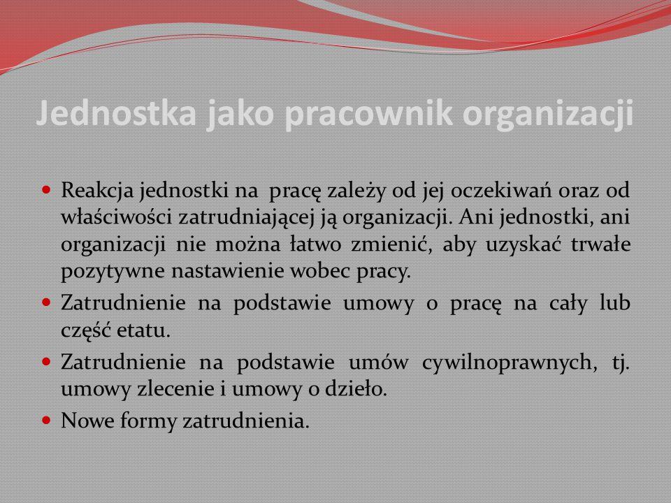 Jednostka jako pracownik organizacji