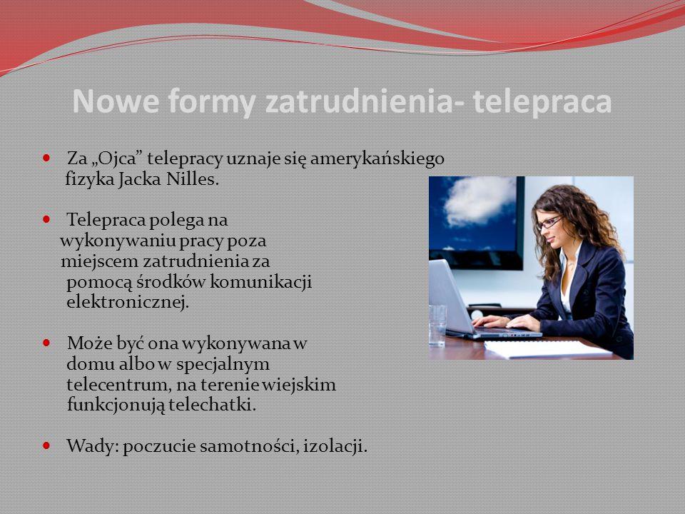 Nowe formy zatrudnienia- telepraca