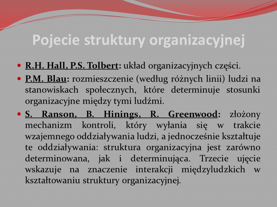 Pojecie struktury organizacyjnej
