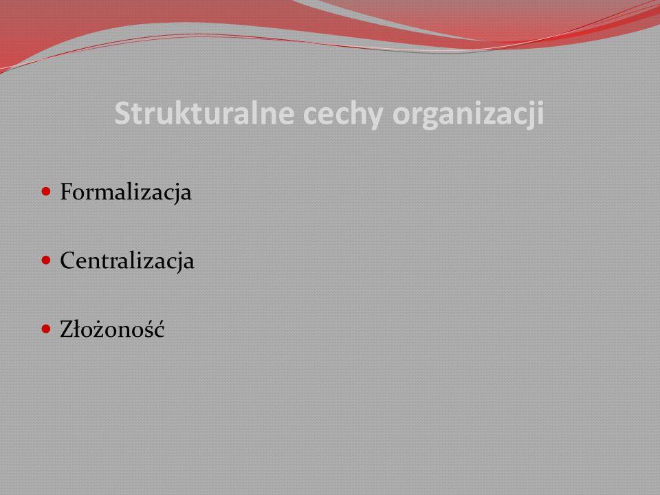 Strukturalne cechy organizacji