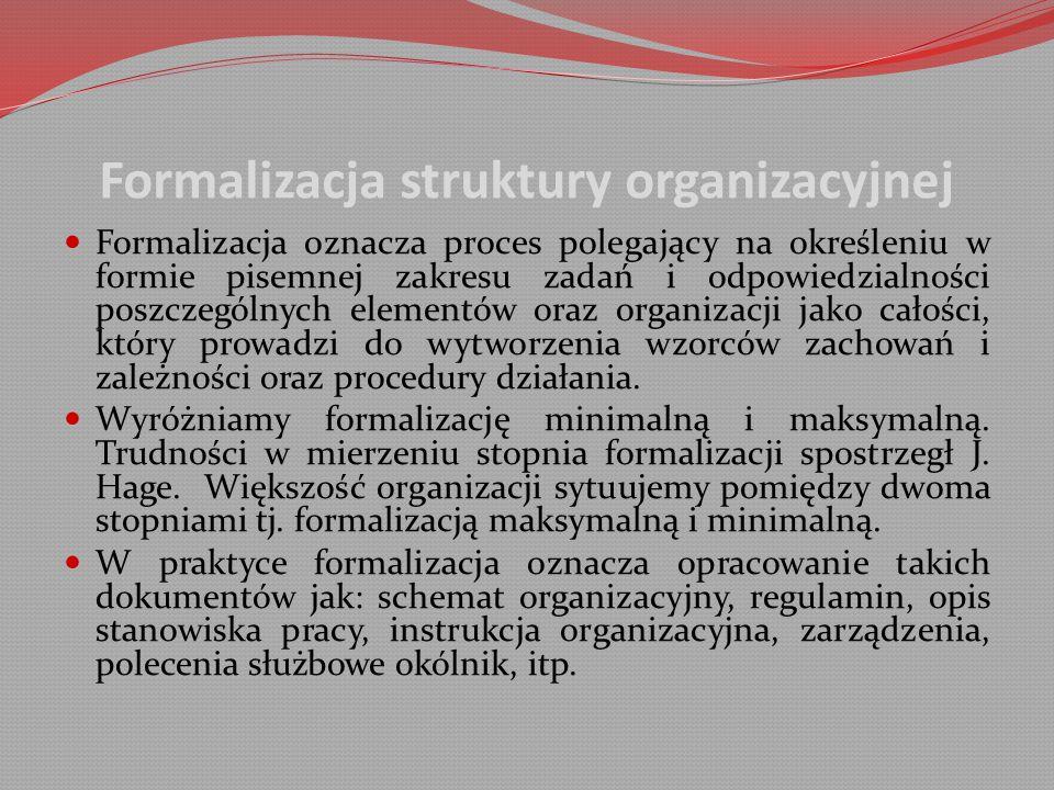 Formalizacja struktury organizacyjnej