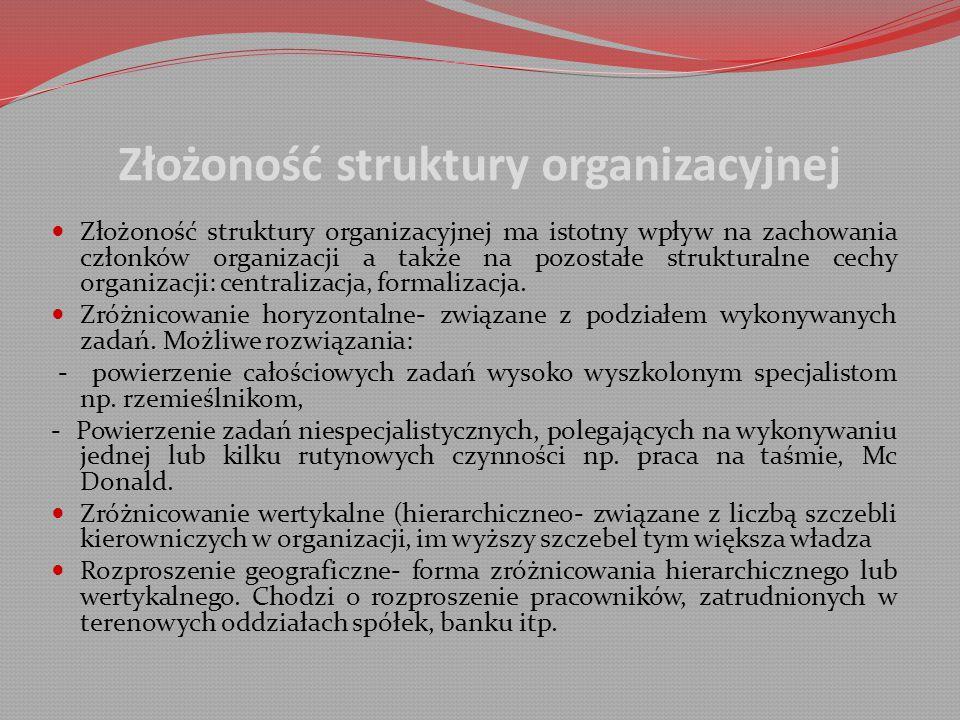 Złożoność struktury organizacyjnej