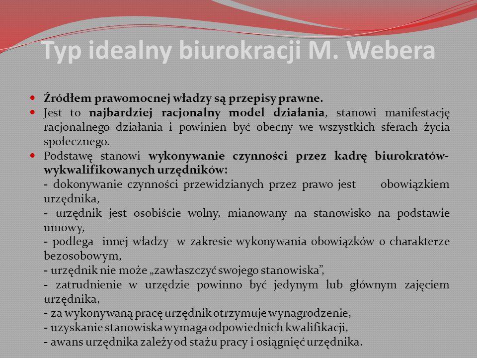 Typ idealny biurokracji M. Webera