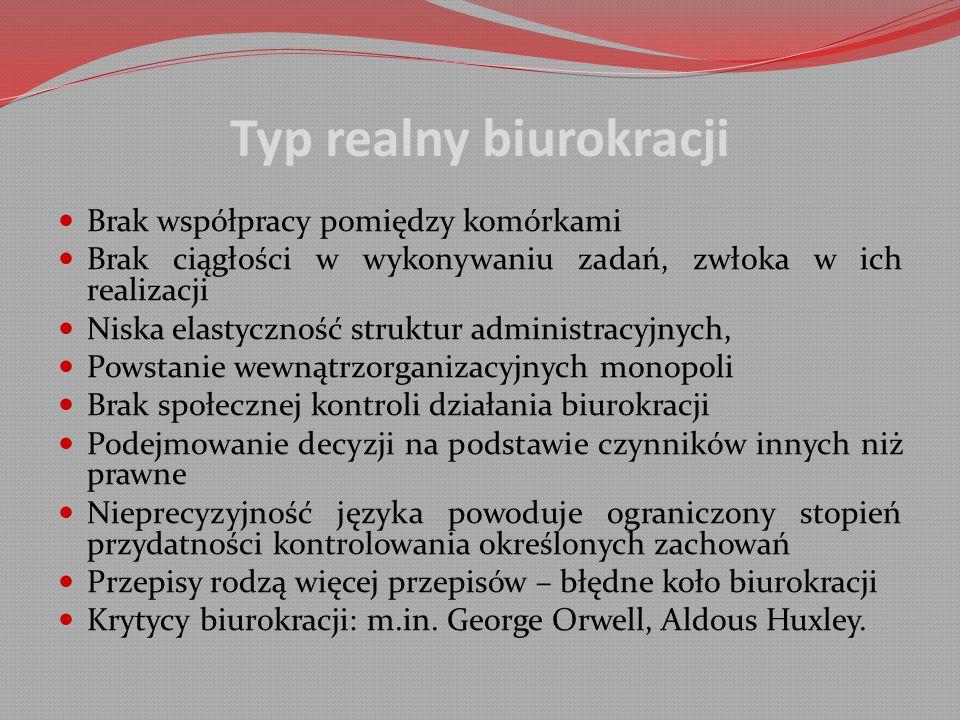 Typ realny biurokracji