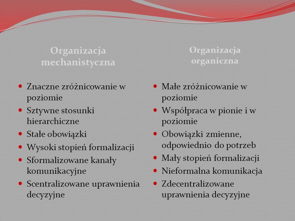 Organizacja mechanistyczna