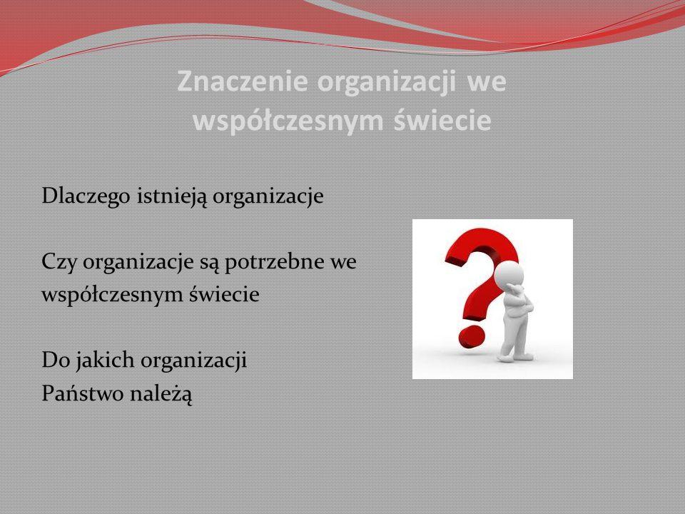 Znaczenie organizacji we współczesnym świecie