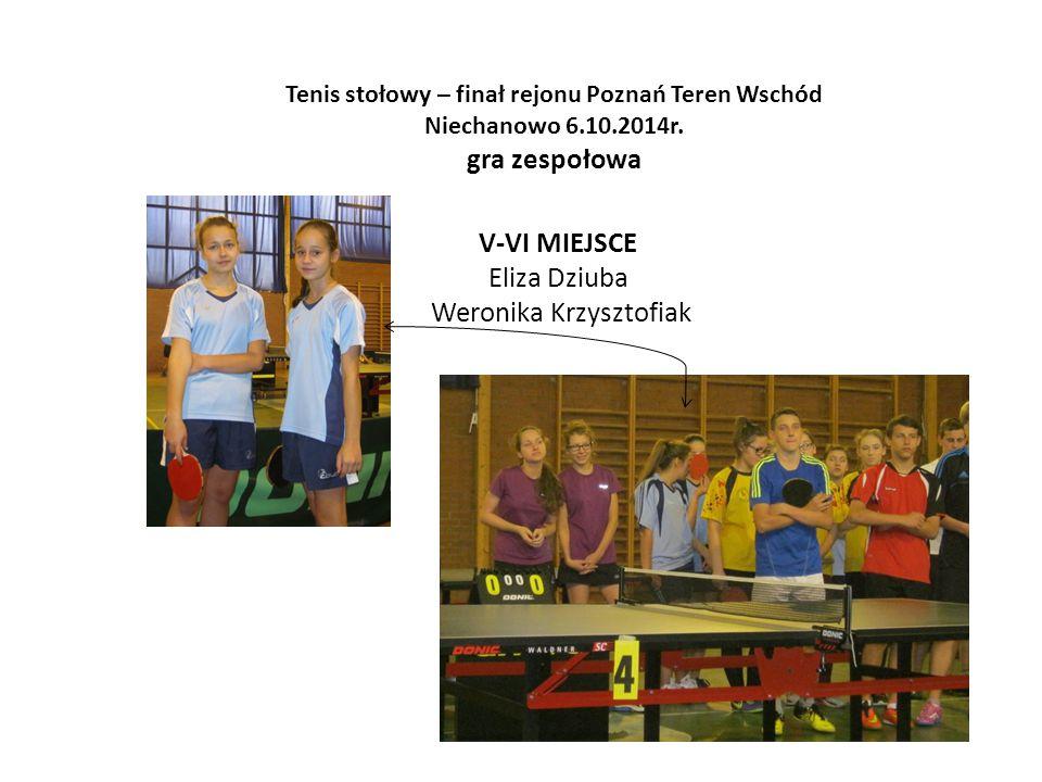 Tenis stołowy – finał rejonu Poznań Teren Wschód
