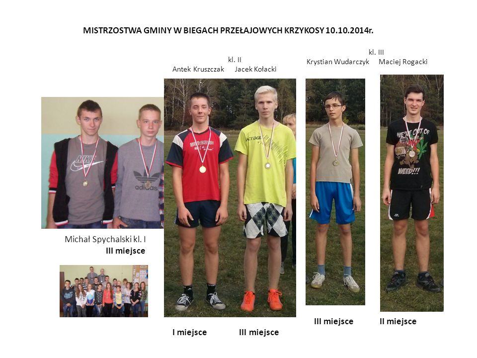 MISTRZOSTWA GMINY W BIEGACH PRZEŁAJOWYCH KRZYKOSY 10.10.2014r.