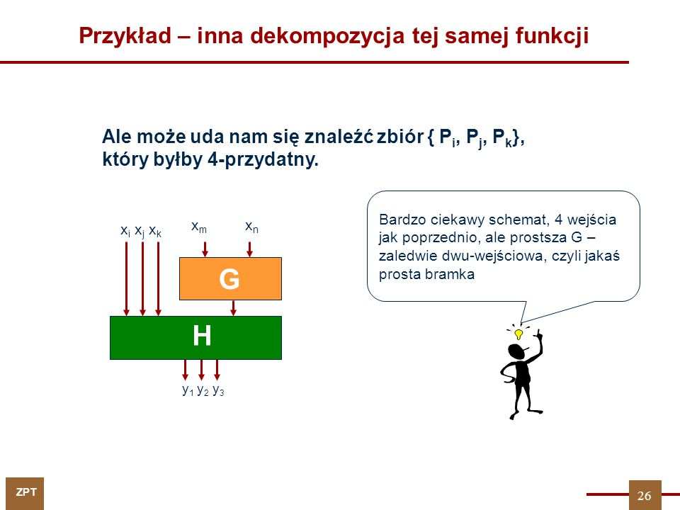 Przykład – inna dekompozycja tej samej funkcji