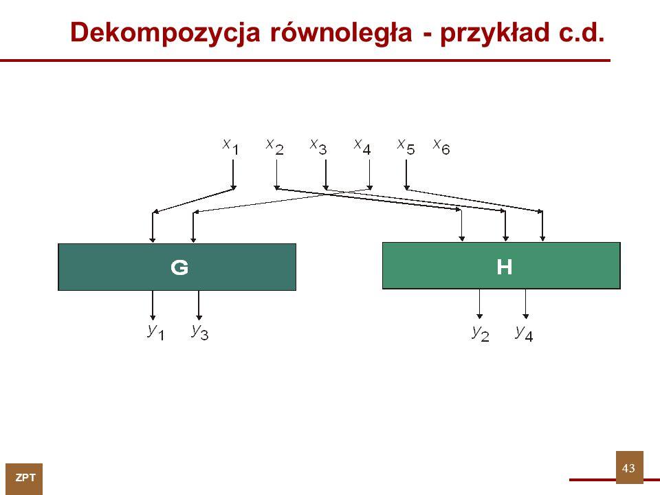 Dekompozycja równoległa - przykład c.d.