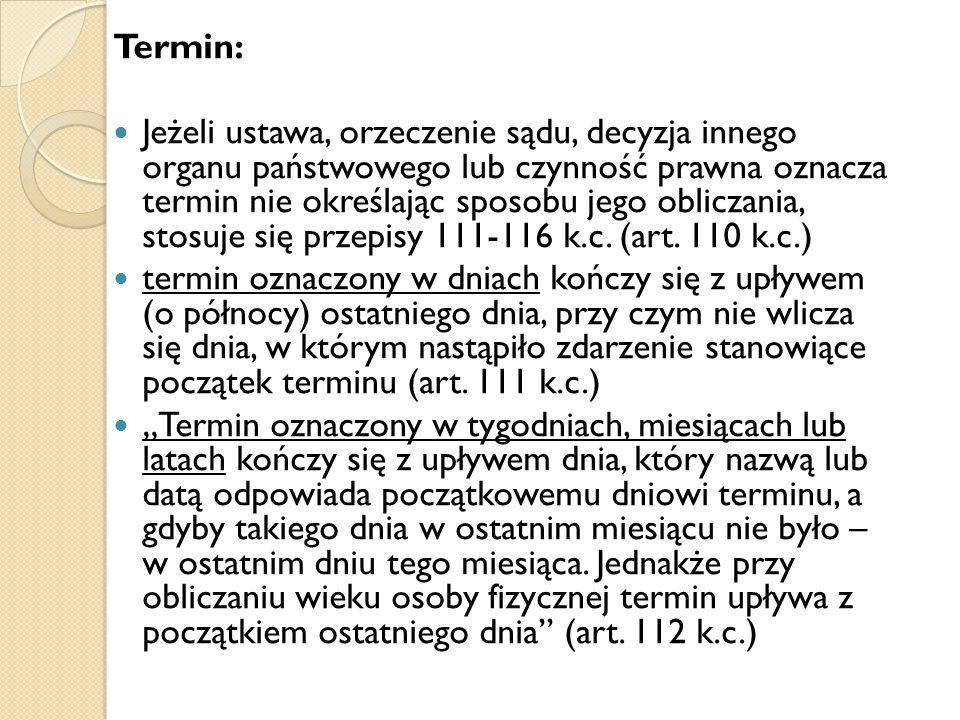 Termin: