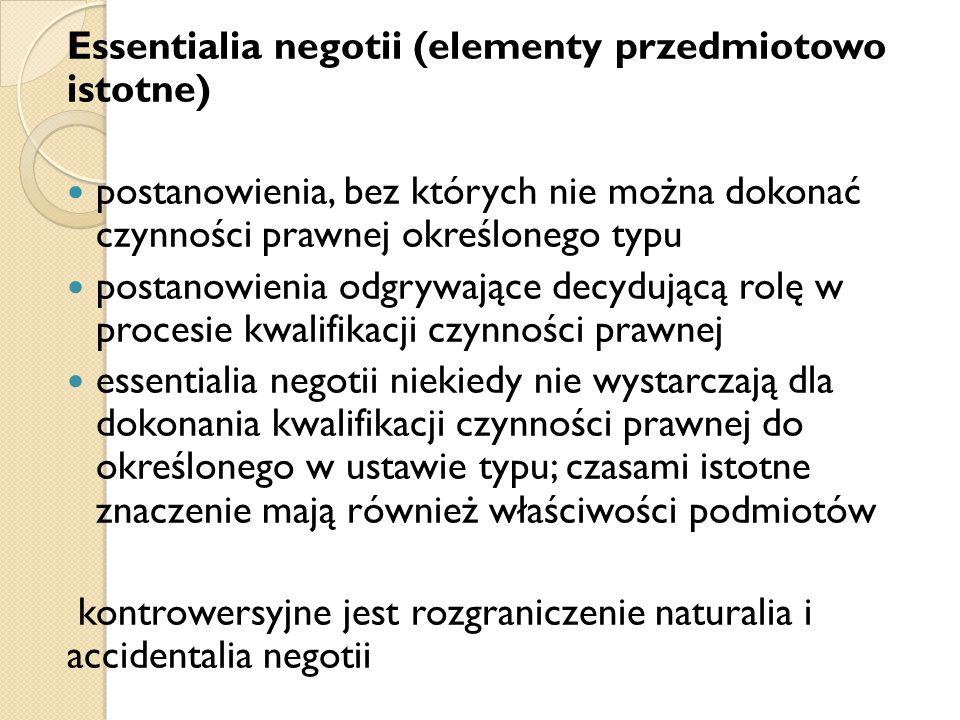 Essentialia negotii (elementy przedmiotowo istotne)