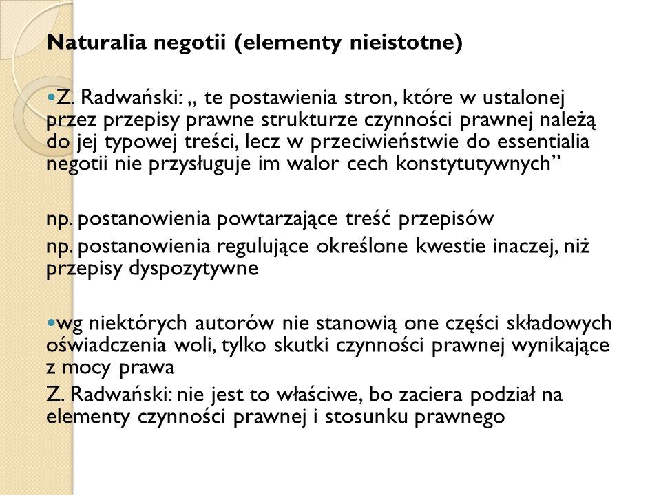Naturalia negotii (elementy nieistotne)
