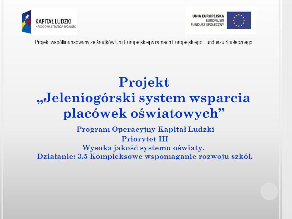 """Projekt """"Jeleniogórski system wsparcia placówek oświatowych"""