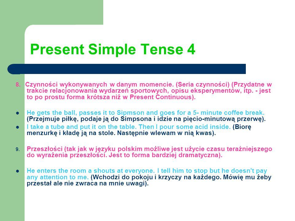 Present Simple Tense 4