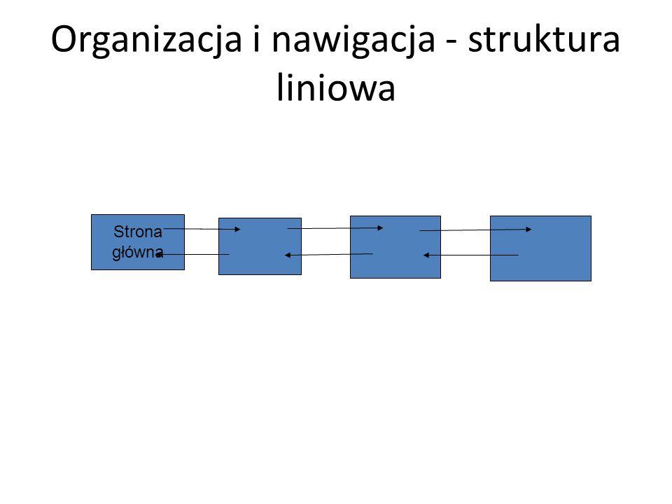 Organizacja i nawigacja - struktura liniowa
