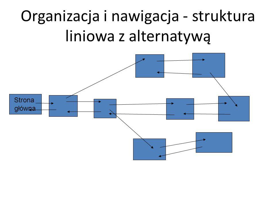 Organizacja i nawigacja - struktura liniowa z alternatywą
