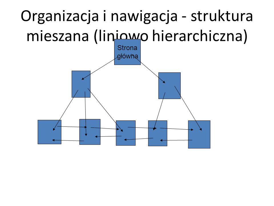 Organizacja i nawigacja - struktura mieszana (liniowo hierarchiczna)