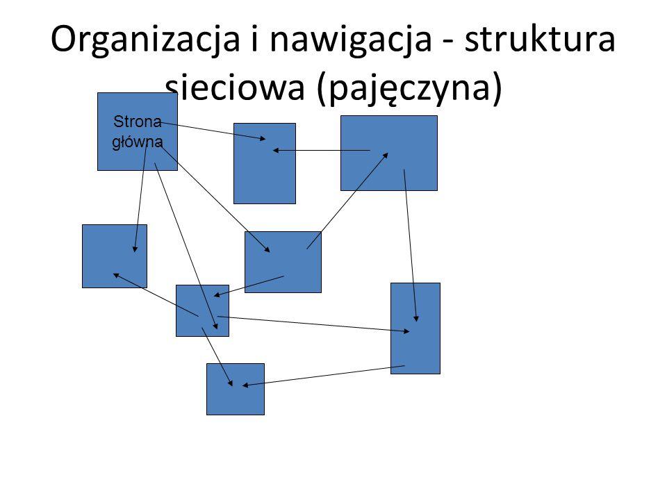 Organizacja i nawigacja - struktura sieciowa (pajęczyna)