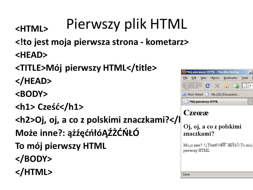 Pierwszy plik HTML <HTML>