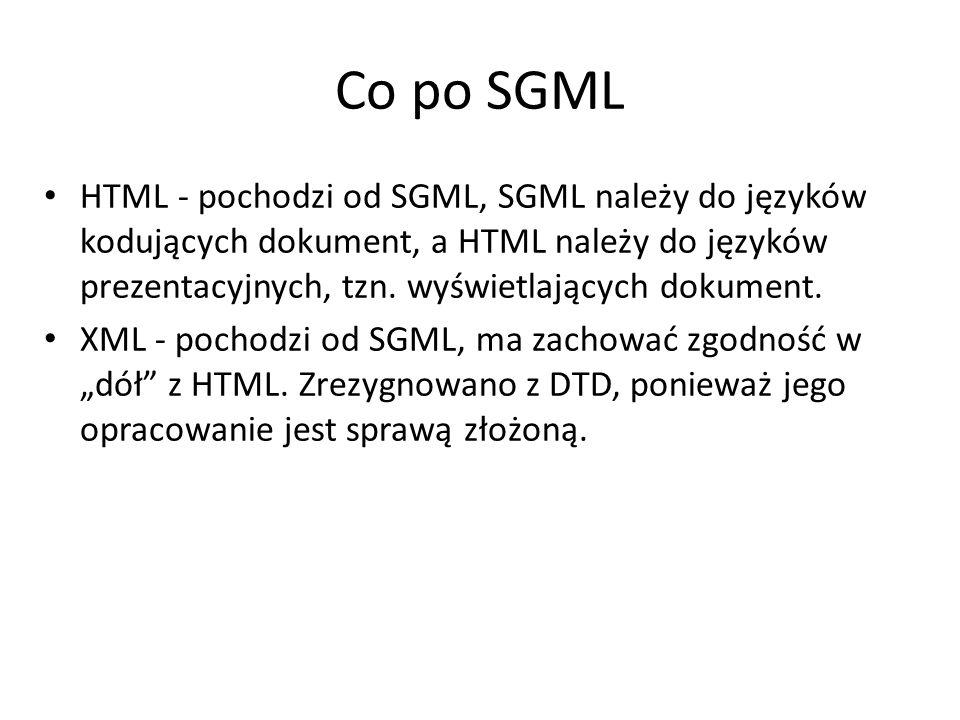 Co po SGML