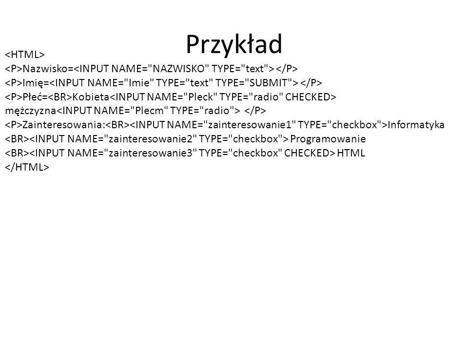 Przykład <HTML>