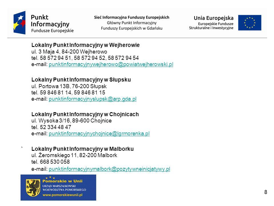 Lokalny Punkt Informacyjny w Wejherowie ul