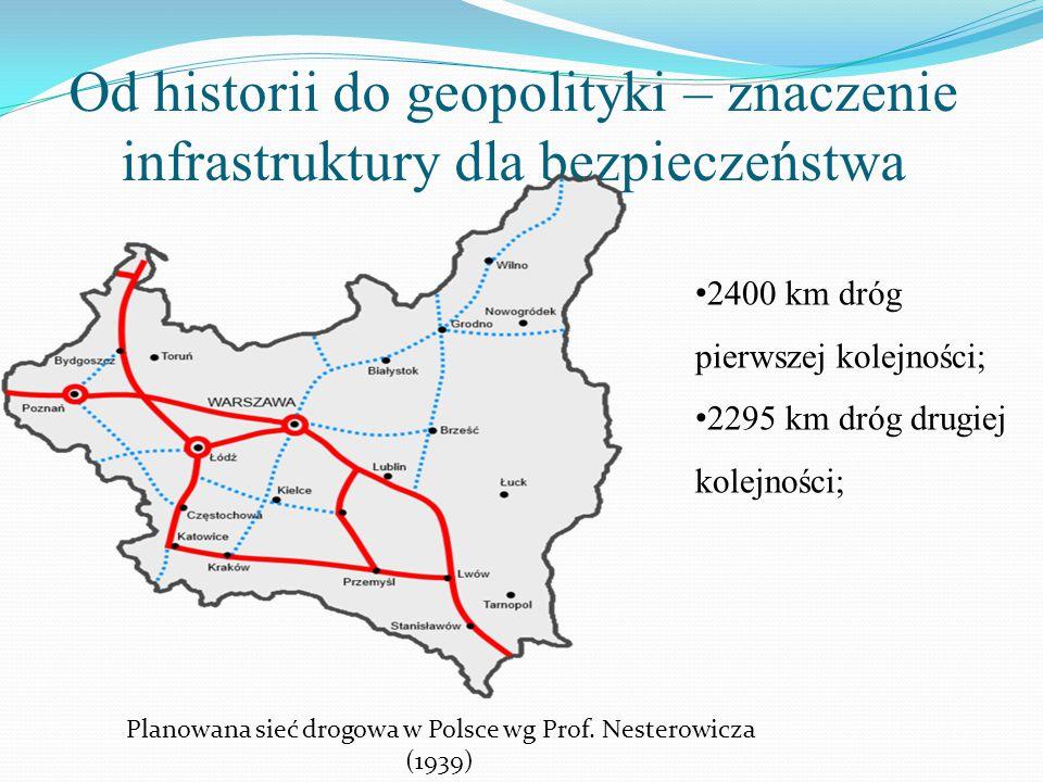 Planowana sieć drogowa w Polsce wg Prof. Nesterowicza (1939)