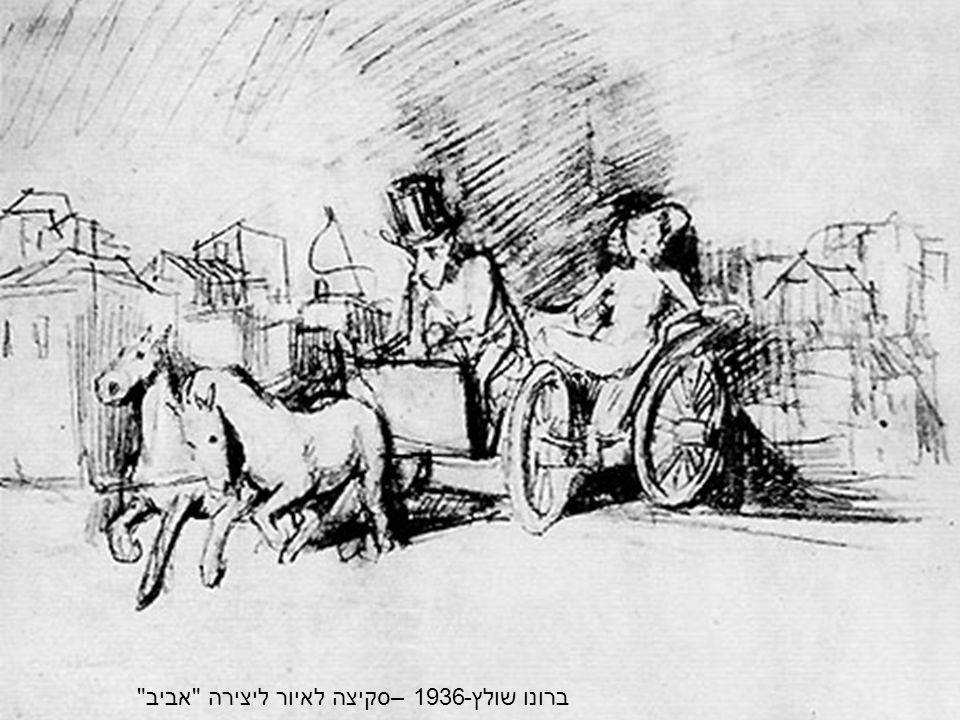 ברונו שולץ-1936 –סקיצה לאיור ליצירה אביב