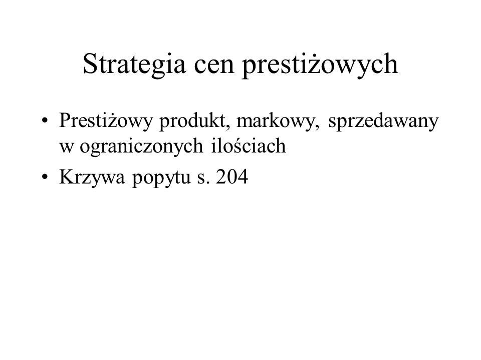 Strategia cen prestiżowych