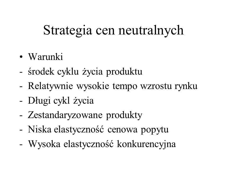 Strategia cen neutralnych