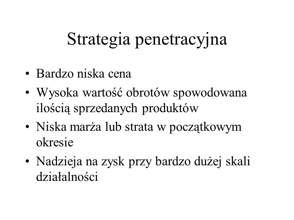 Strategia penetracyjna