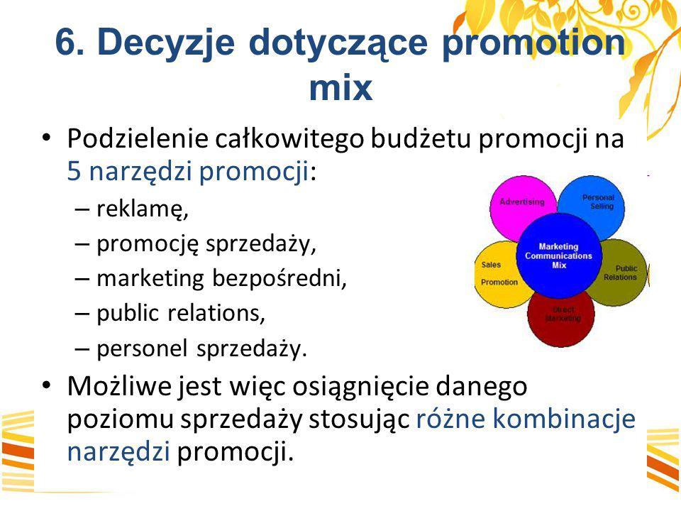 6. Decyzje dotyczące promotion mix