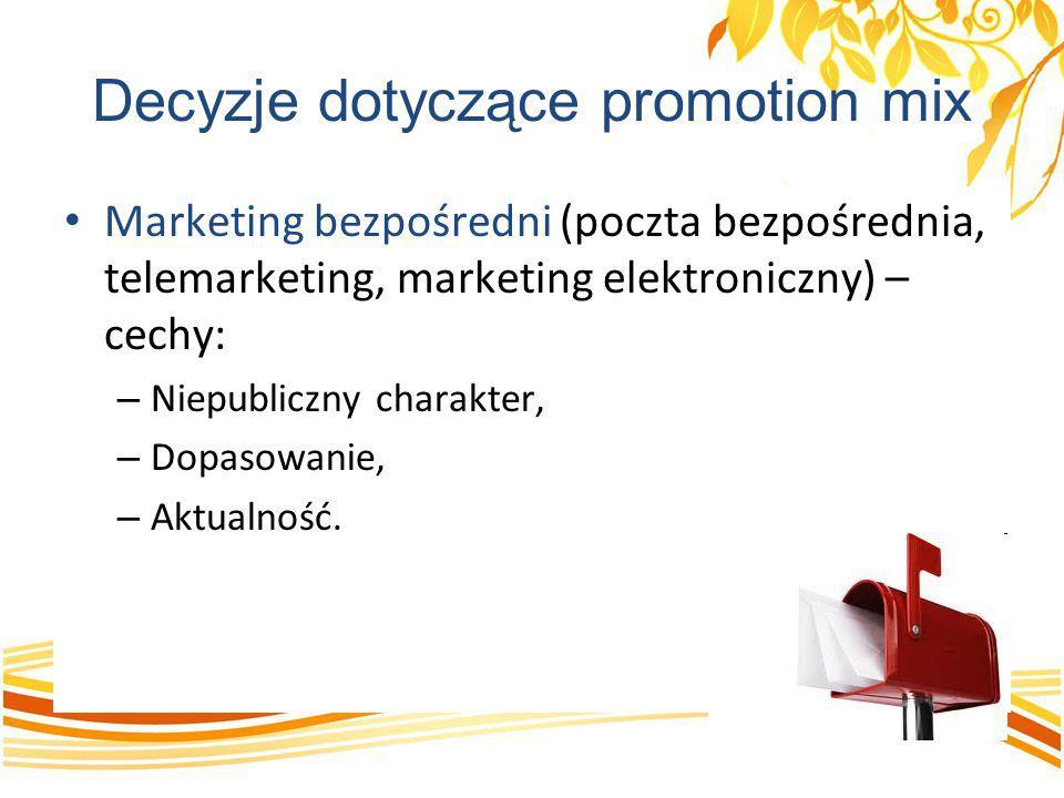 Decyzje dotyczące promotion mix