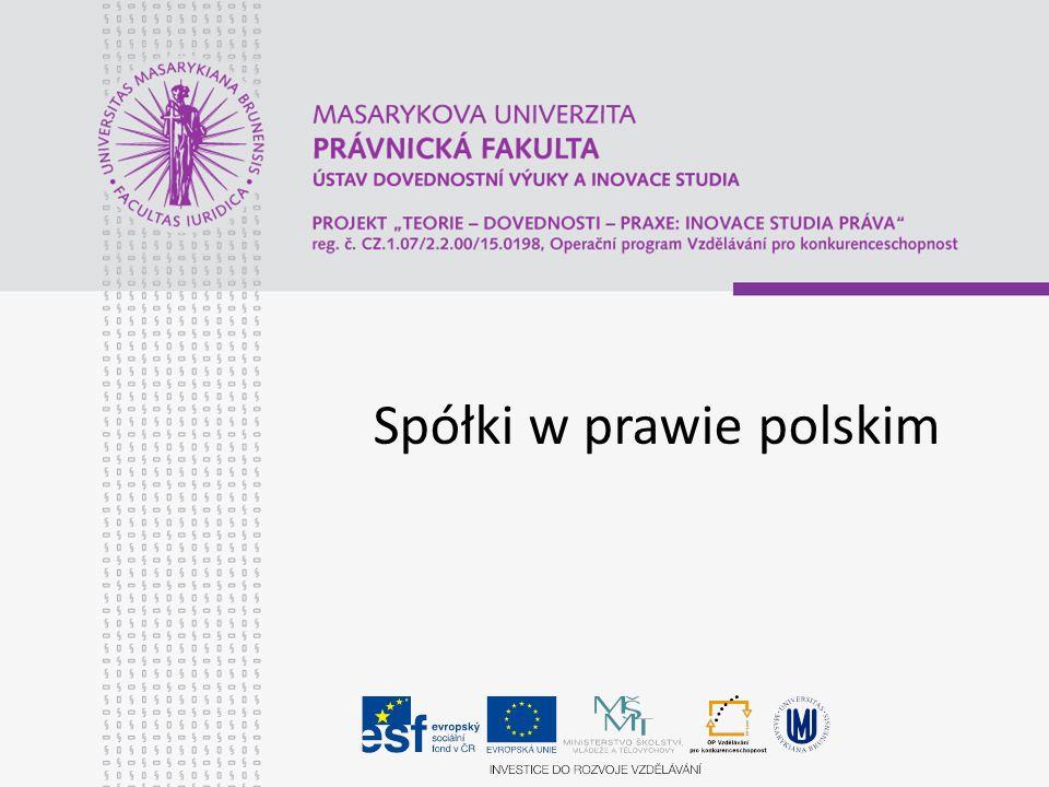 Spółki w prawie polskim
