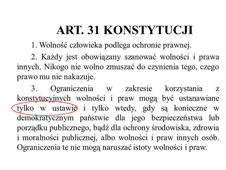 ART. 31 KONSTYTUCJI