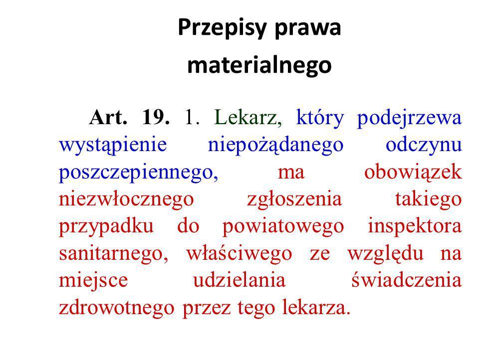 Przepisy prawa materialnego