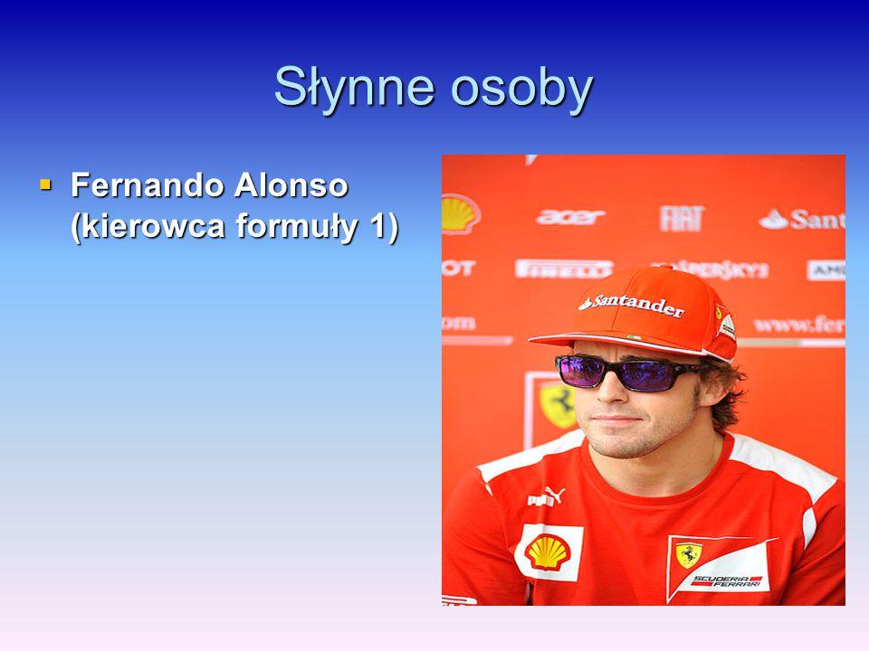 Słynne osoby Fernando Alonso (kierowca formuły 1)