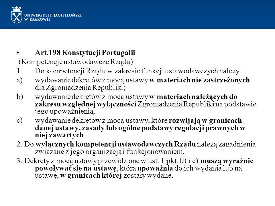 Art.198 Konstytucji Portugalii