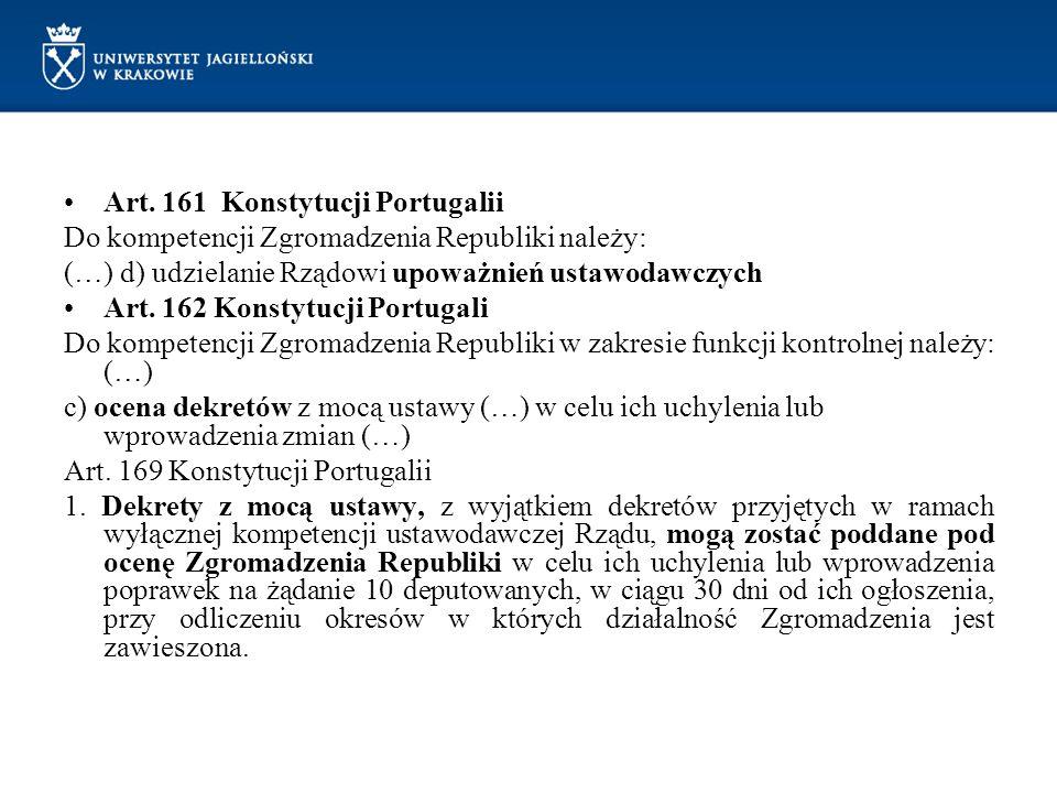 Art. 161 Konstytucji Portugalii