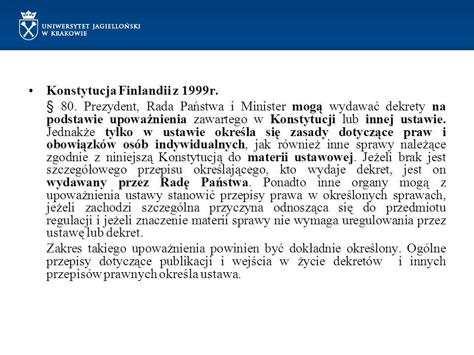 Konstytucja Finlandii z 1999r.