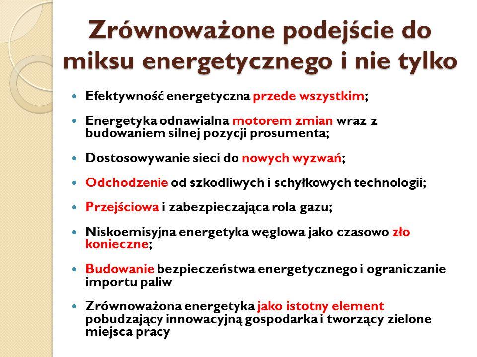 Zrównoważone podejście do miksu energetycznego i nie tylko