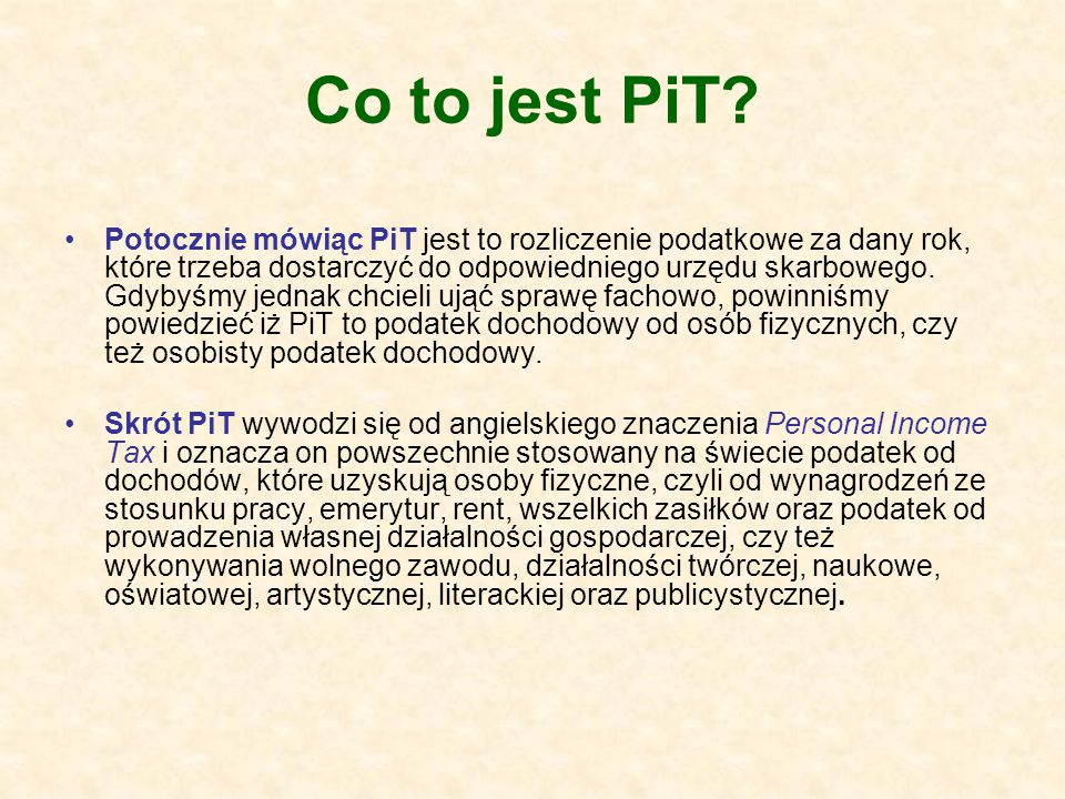 Co to jest PiT