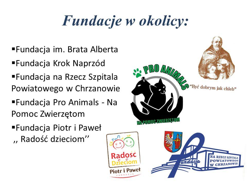Fundacje w okolicy: Fundacja im. Brata Alberta Fundacja Krok Naprzód