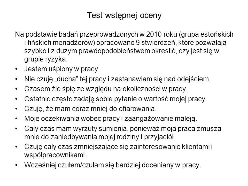Test wstępnej oceny