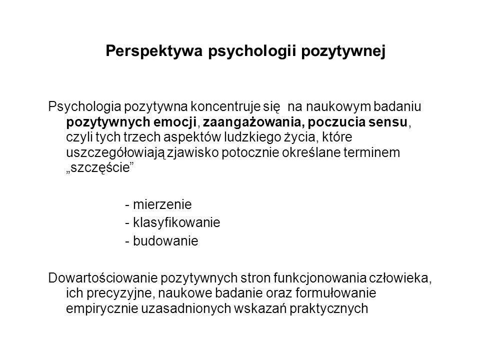 Perspektywa psychologii pozytywnej