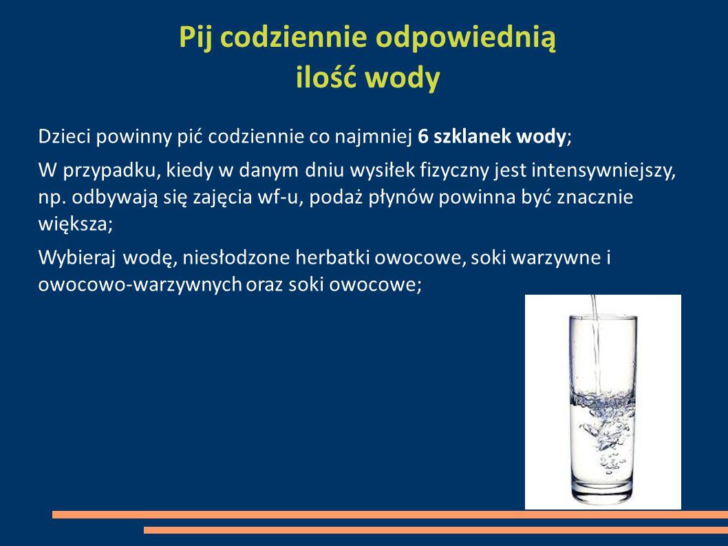 Pij codziennie odpowiednią ilość wody