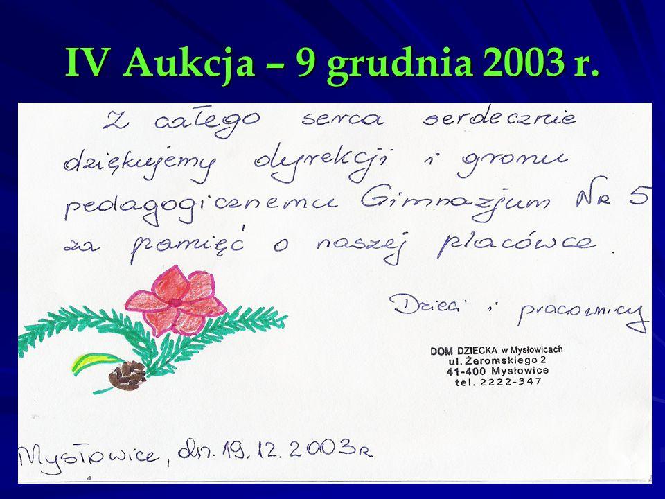 IV Aukcja – 9 grudnia 2003 r.