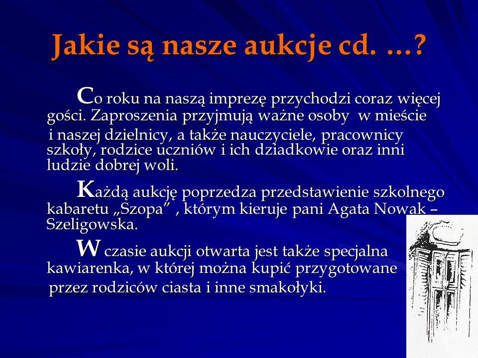 Jakie są nasze aukcje cd. …